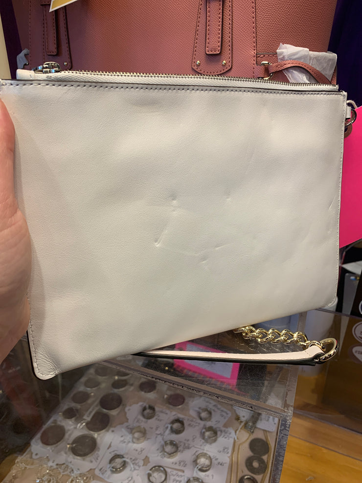 Michael Kors white NWT wristlet - PopRock Vintage. The cool quotes t-shirt store.
