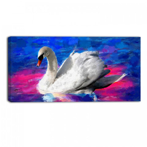 Beautiful Swan Animal Canvas Wall Art Print