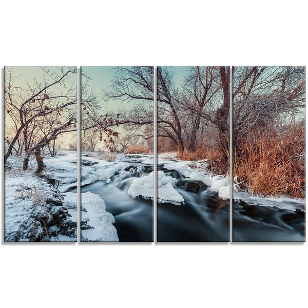 Beauty of the Winter Forest Landscape Canvas Wall Art Print