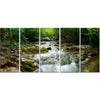 Calm Spring Waterfall Canvas Wall Art Print