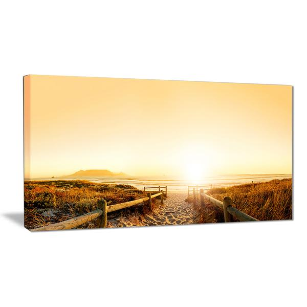 Cape Town Beach Panorama Canvas Wall Art Print
