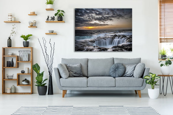Coastal Falls Canvas Wall Art Print
