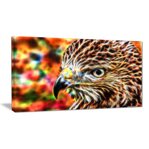 Colorful Eagle Canvas Wall Art Print