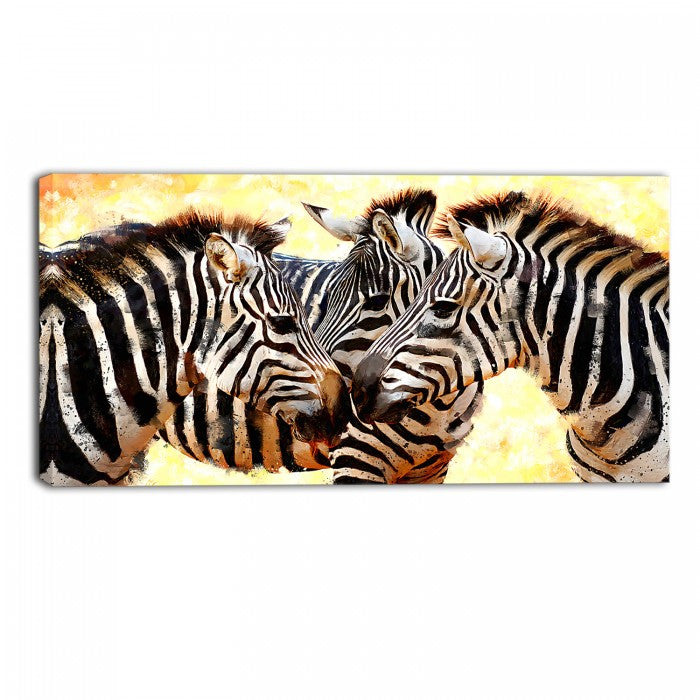 Dazzle of Zebras Animal Canvas Wall Art Print – Accent Canvas