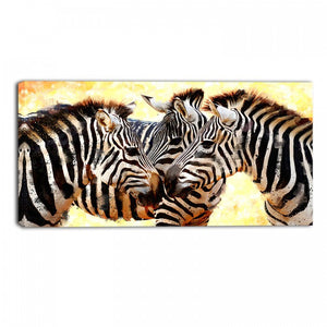 Dazzle of Zebras Animal Canvas Wall Art Print