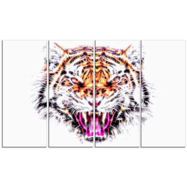 Fierce Feline Canvas Wall Art Print