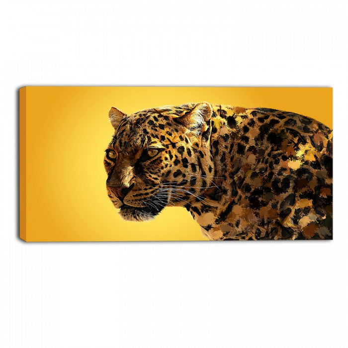 Gold Eyes On You Animal Canvas Wall Art Print – Accent Canvas