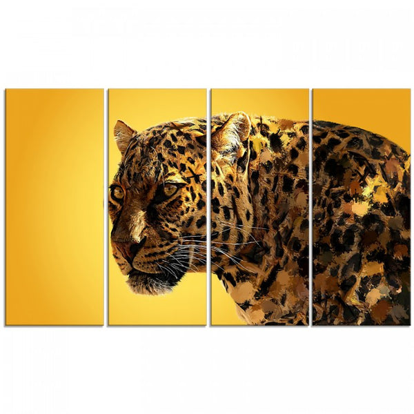 Gold Eyes On You Animal Canvas Wall Art Print