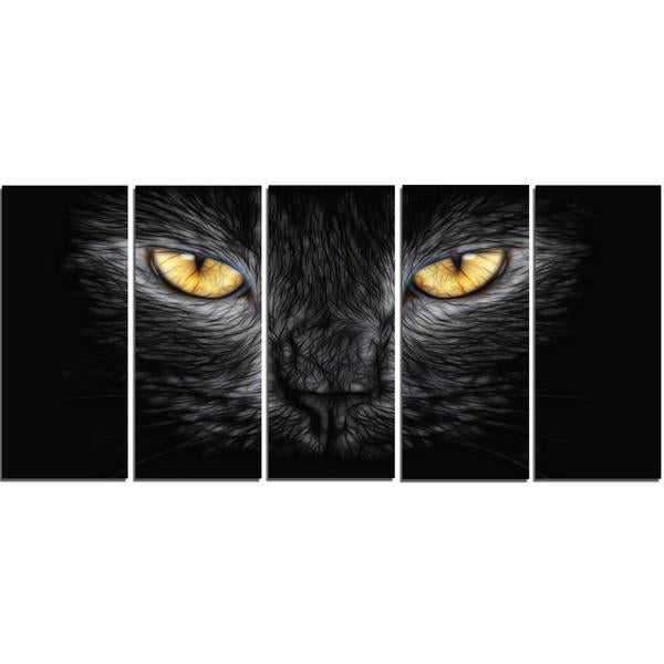 Golden Cat Eyes Canvas Wall Art Print