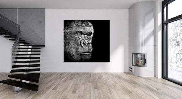 Gorilla Animal Canvas Wall Art Print