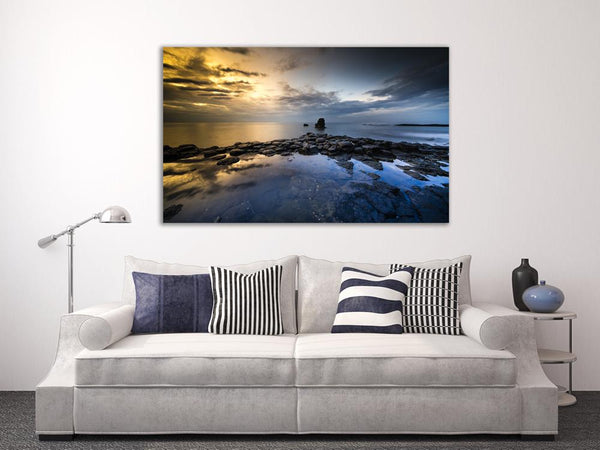 Great Volcanic Rock Canvas Wall Art Print
