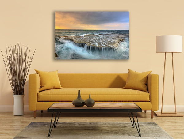 Ocean Flow Canvas Wall Art Print