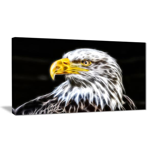 Proud Eagle Canvas Wall Art Print