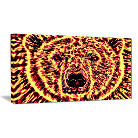 Psychotropic Bear Canvas Wall Art Print