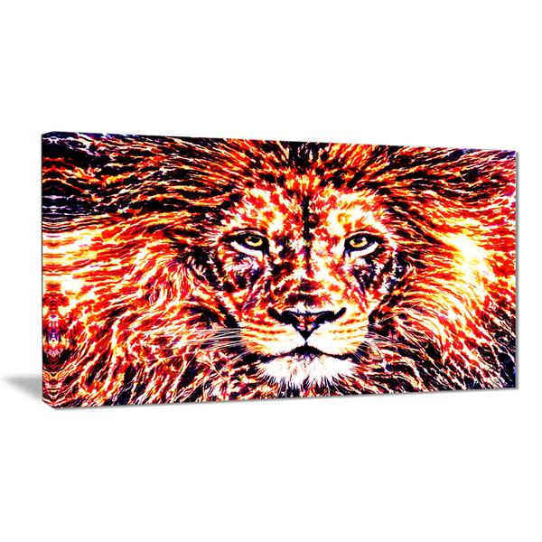 Radiant Lion Canvas Wall Art Print