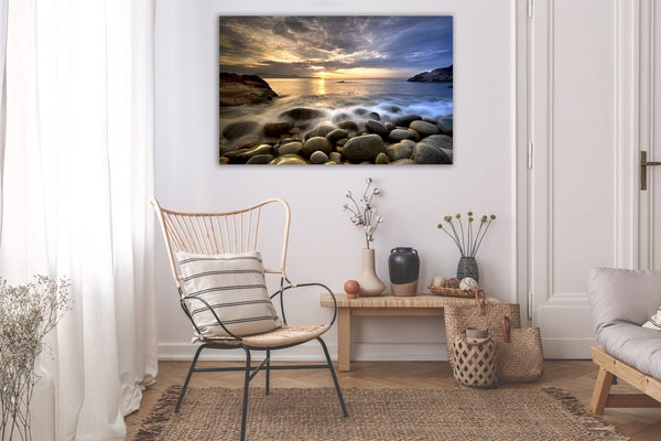 Rocky Beach Mornings Canvas Wall Art Print