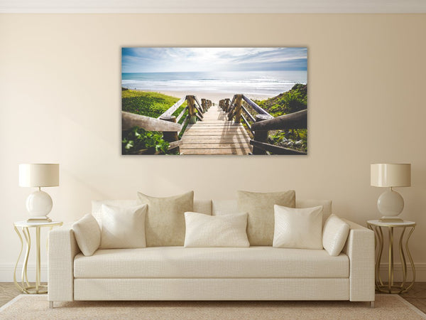 Sea Shore View Canvas Wall Art Print