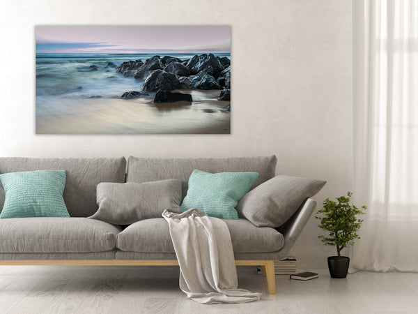 Sea Side Waves Canvas Wall Art Print