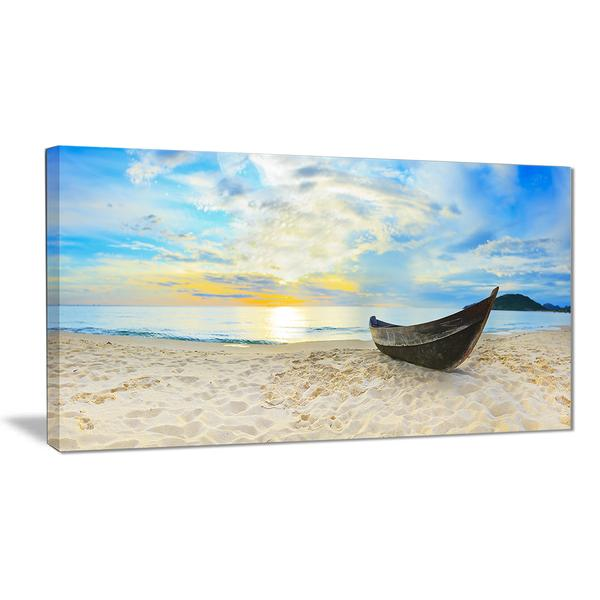Serene Beach Panorama Canvas Wall Art Print
