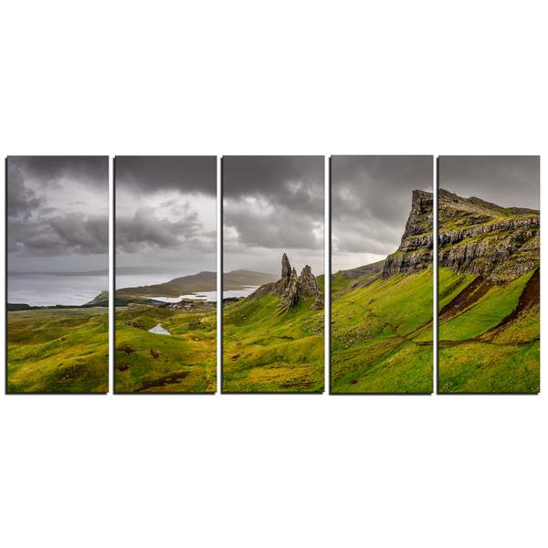 Storr Mountains of Scotland Canvas Wall Art Print