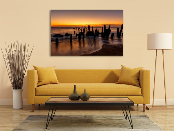Sunrise Waves Canvas Wall Art Print