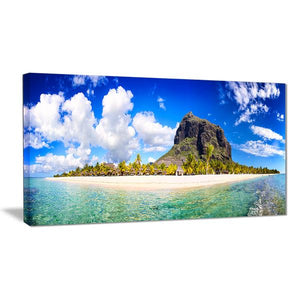 Tranquility of Mauritius Beach Canvas Wall Art Print