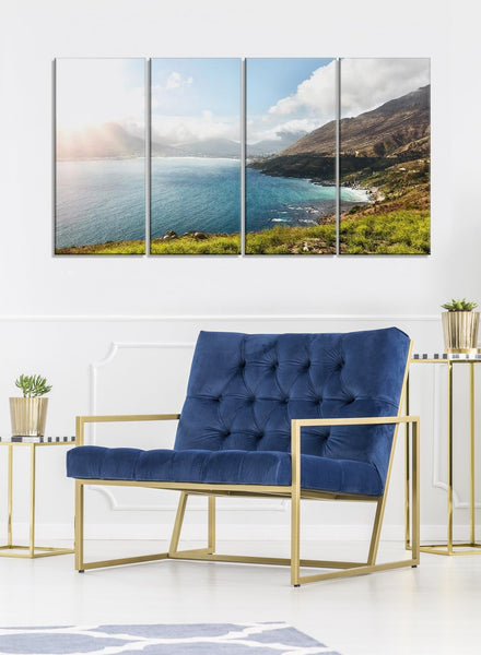 View of the Bay Canvas Wall Art Print