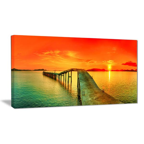 Vivid Sunset Panorama Canvas Wall Art Print – Accent Canvas