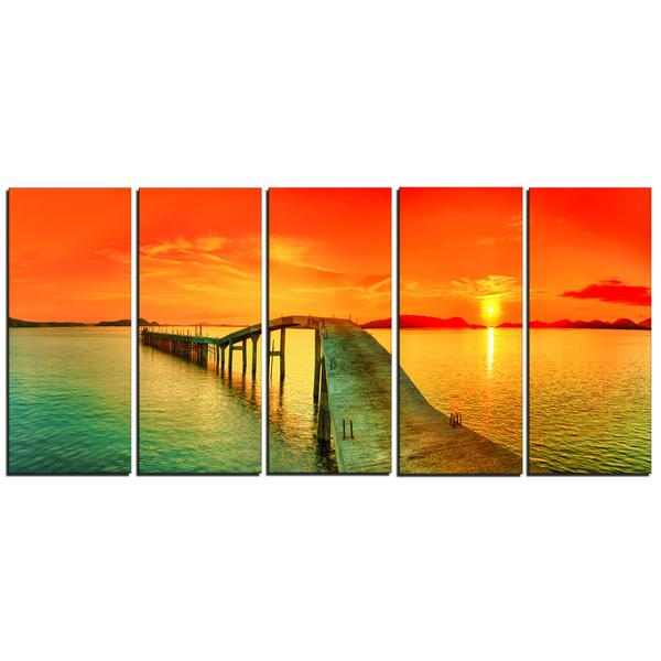 Vivid Sunset Panorama Canvas Wall Art Print