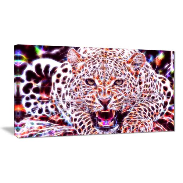 Wild Cat Afterglow Canvas Wall Art Print