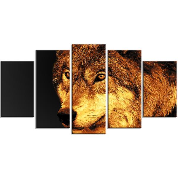 The Wolf Canvas Wall Art Print