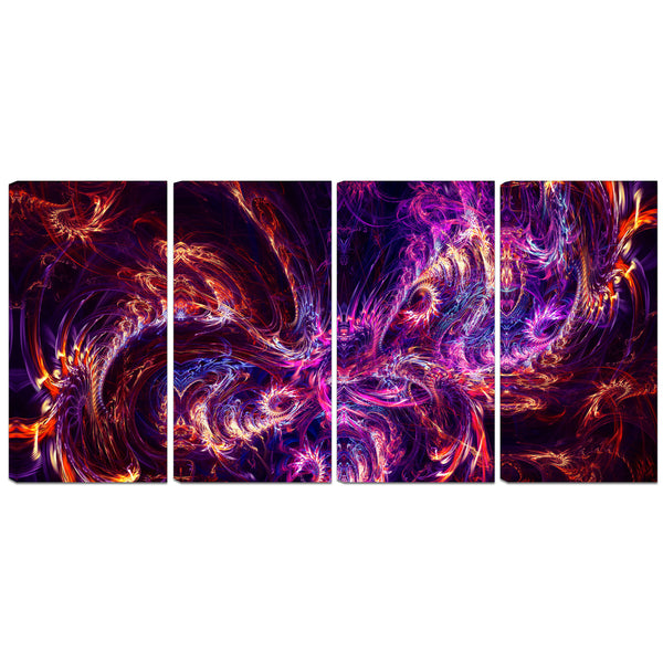 A Little Razzle-Dazzle Abstract Canvas Wall Art Print