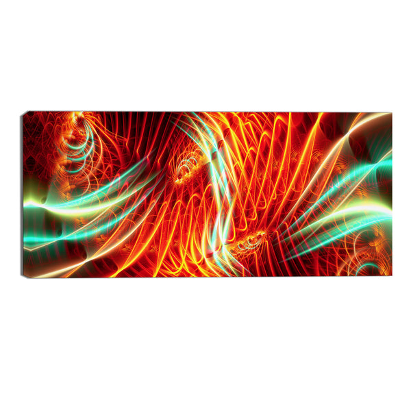 Abstract Neon Lights Canvas Wall Art Print