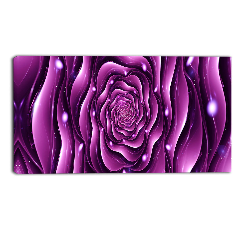 Abstract Purple Floral Canvas Wall Art Print