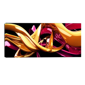 Abstract Vibrant Curves Canvas Wall Art Print