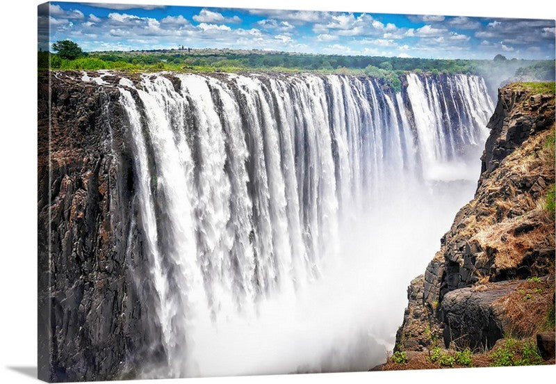 Africa Victoria Falls Canvas Wall Art Print
