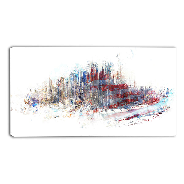 American Cityscape Canvas Wall Art Print