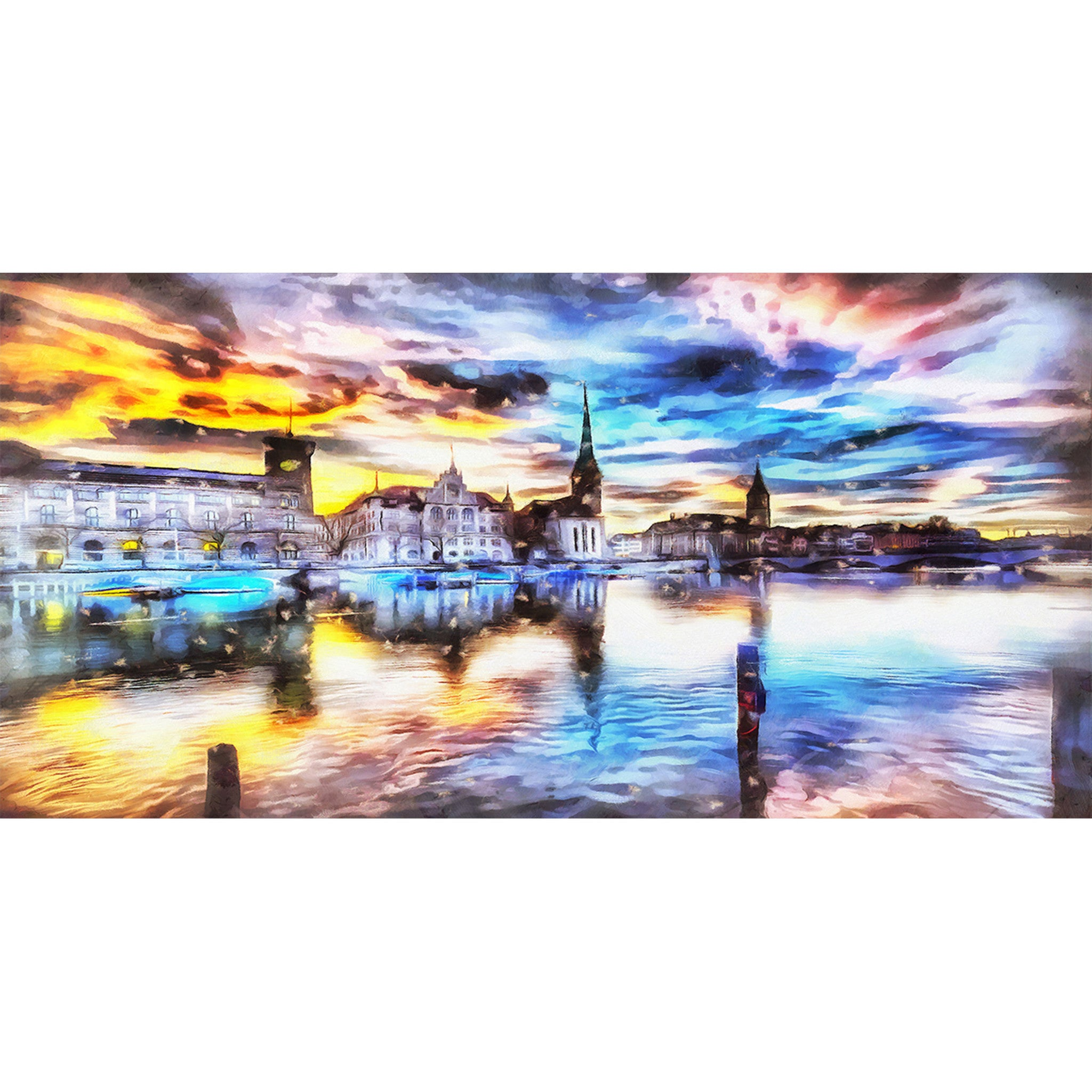 Beautiful Venice Cityscape Canvas Wall Art Print