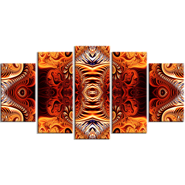 Blazing Richness Canvas Abstract Wall Art Print