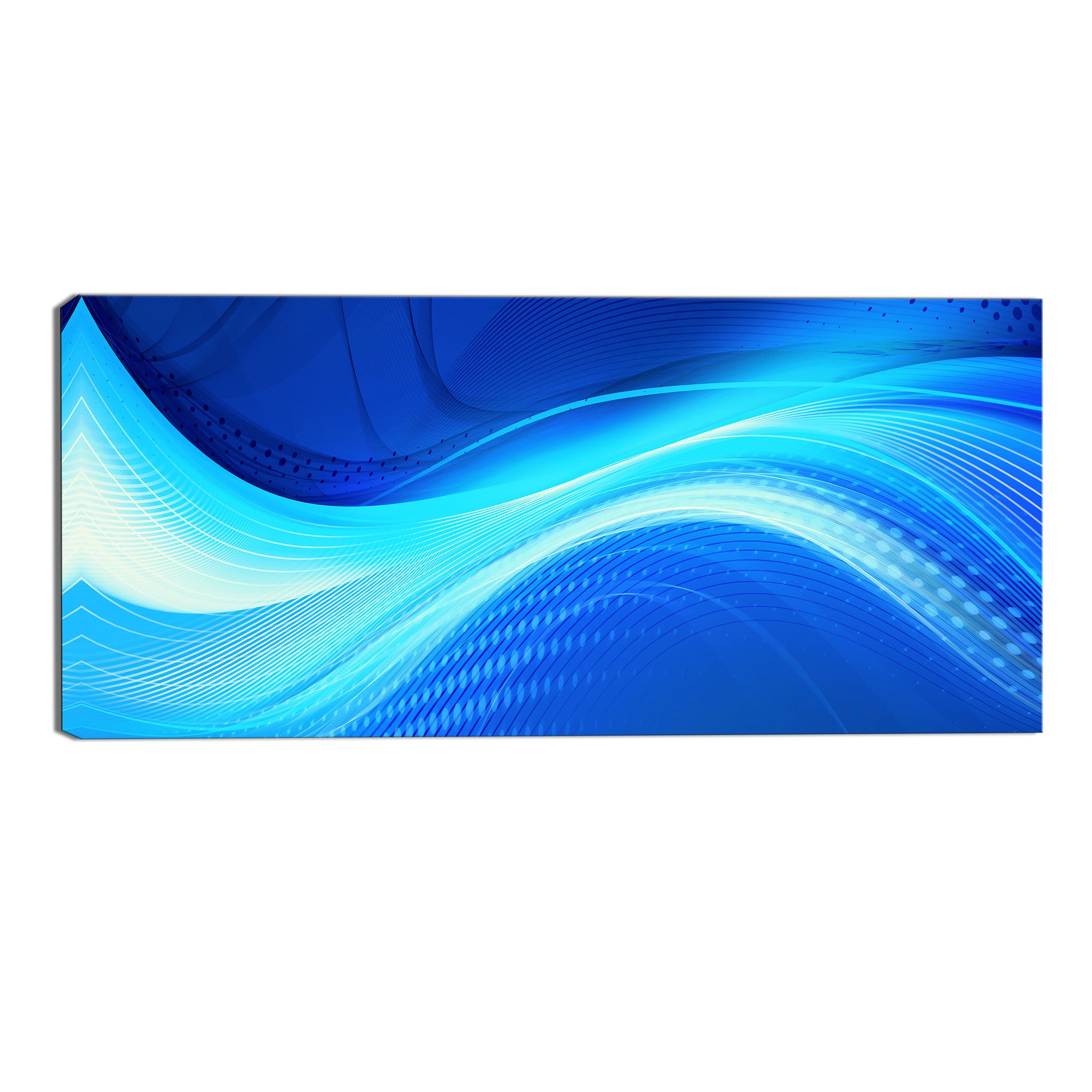 Blue Accents Canvas Abstract Wall Art Print