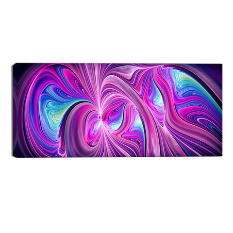 Blue and Pink Frenzy Abstract Canvas Wall Art Print