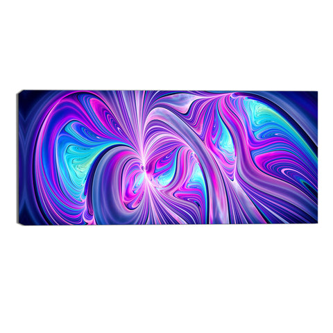 Blue and Purple Delight Abstract Canvas Wall Art Print