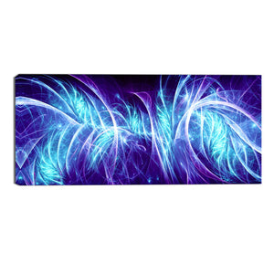 Blue Electric Madness Abstract Canvas Wall Art Print