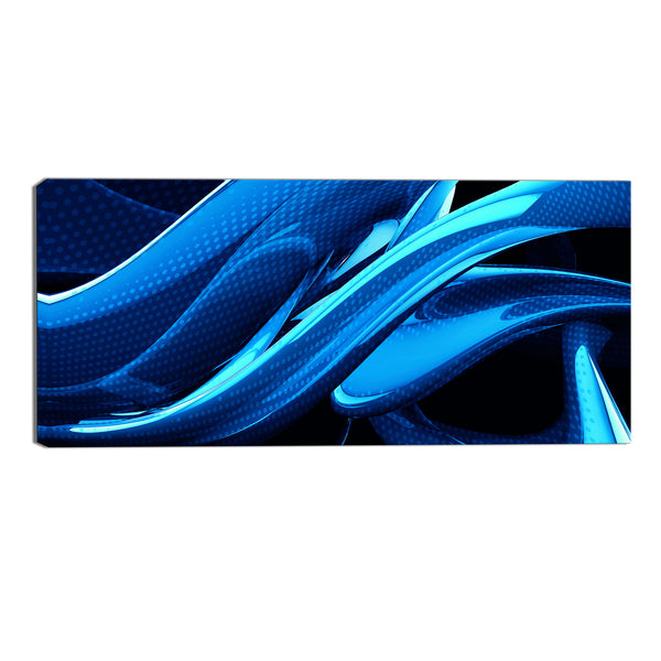 Blue Splash Abstract Canvas Wall Art Print