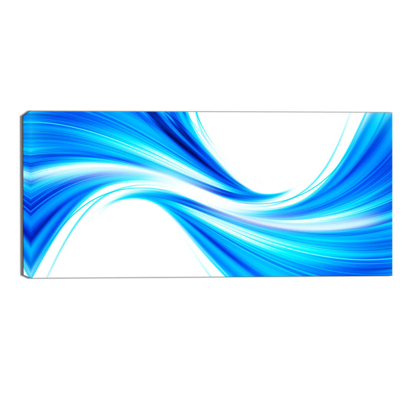 Blue Wave Abstract Canvas Wall Art Print