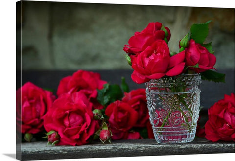 Bouquet of Red Roses Canvas Wall Art Print