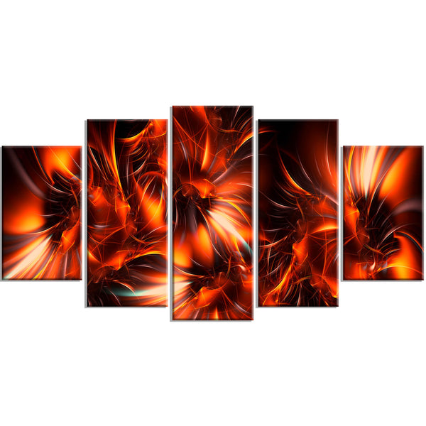 Burning It Up Abstract Canvas Wall Art Print