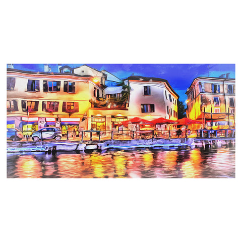CafŽ on the French Riveria Canvas Wall Art Print