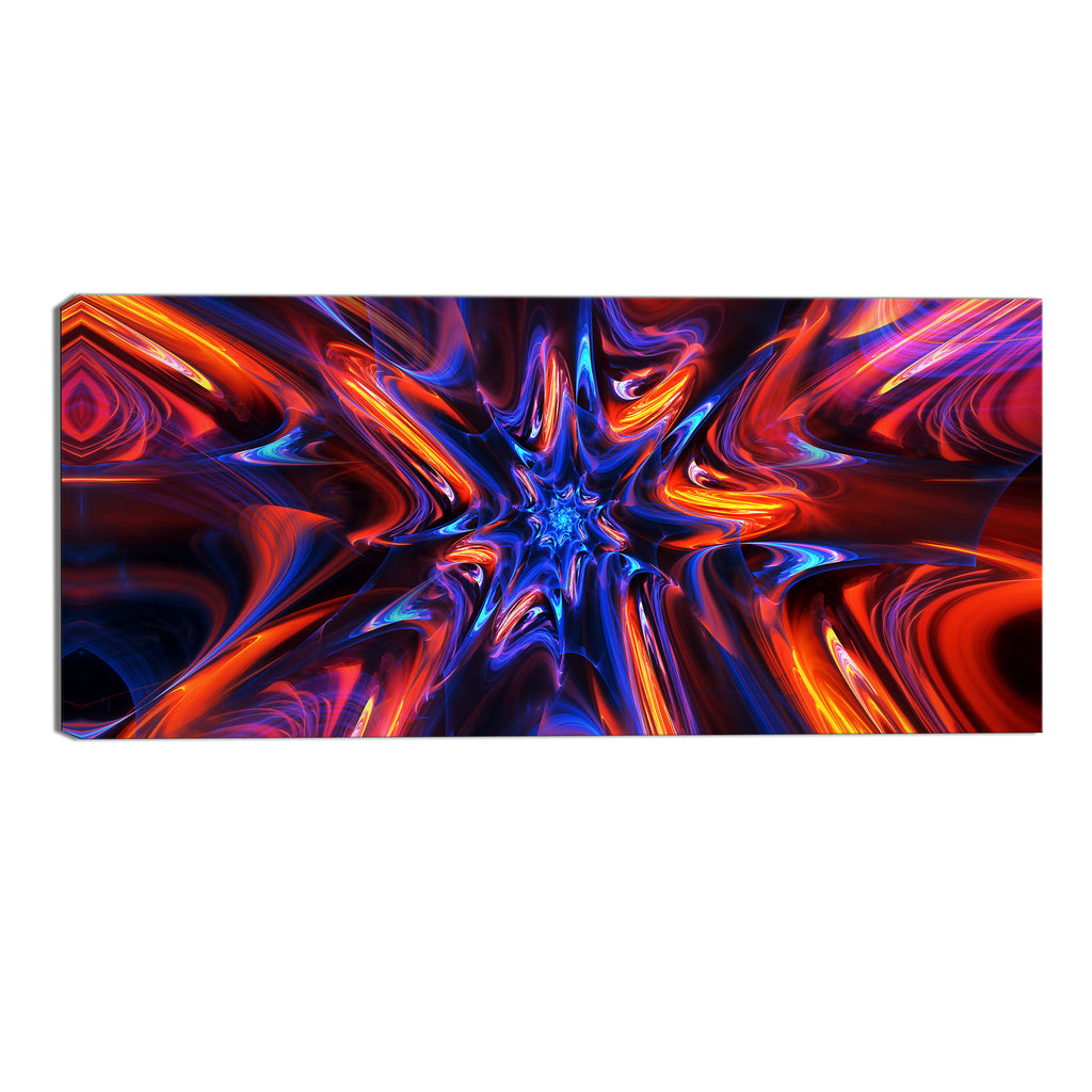 Caught Up In Ecstasy Abstract Canvas Wall Art Print