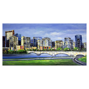 Cityscape of Calgary Canvas Wall Art Print